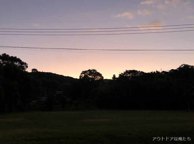 長島青少年旅行村の朝日