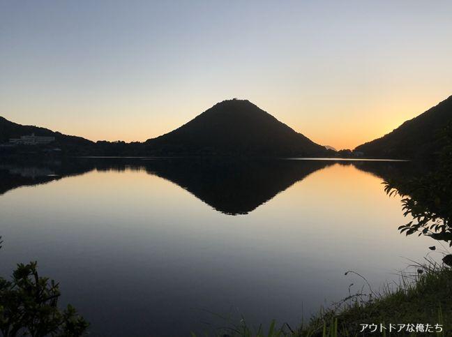 藺牟田富士と日の出