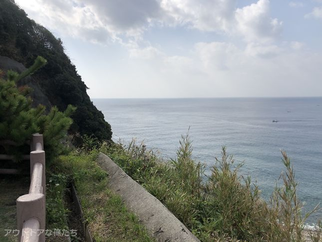 展望台から眺めた海
