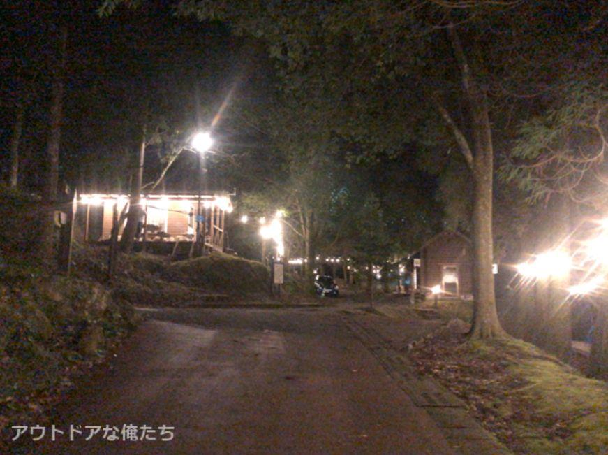 夜の岩屋公園キャンプ場