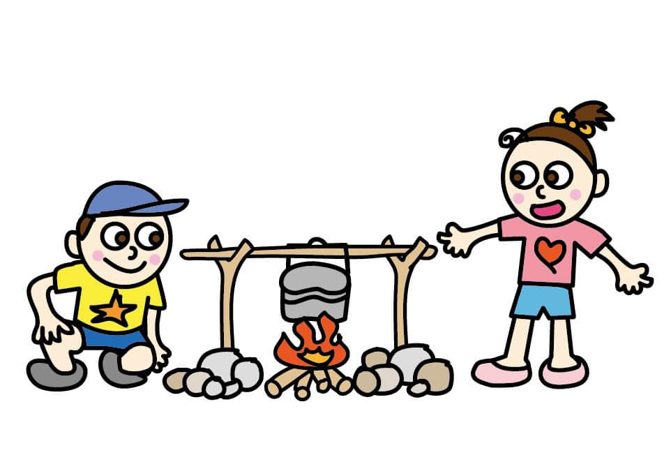 子供のキャンプ