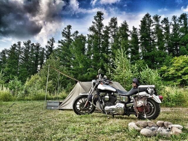 バイクとテント