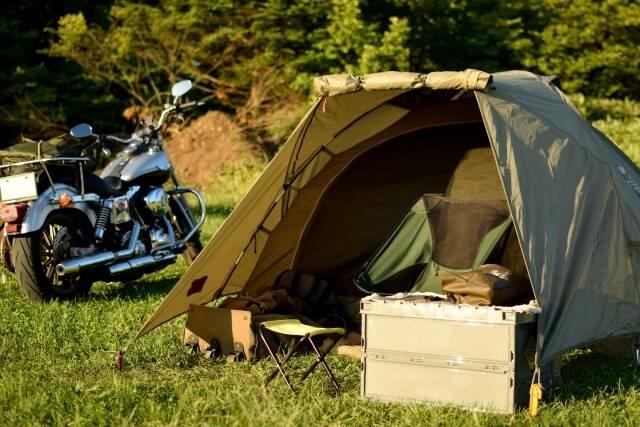 バイクとキャンプ